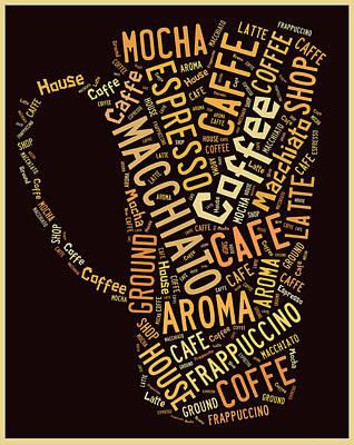 Coffee Menu Collection Art Print