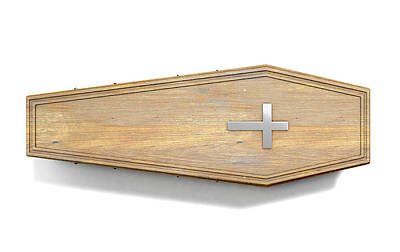 Cemetery Digital Art - Coffin And Crucifix by Allan Swart