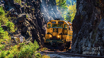 Photograph - Conway Scenic Railroad by New England Photography