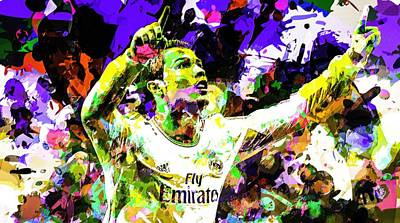 Cristiano Ronaldo Mixed Media - Cristiano Ronaldo by Svelby Art