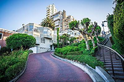 Photograph - Curvy Winding Lombard Street San Francisco by Alex Grichenko