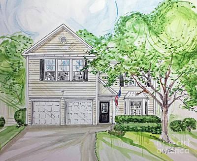 Painting - Custom House Rendering by Lizi Beard-Ward