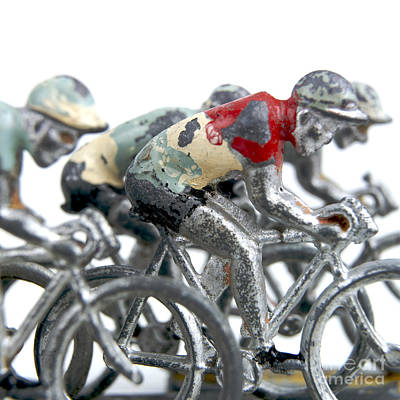 Pedals Photograph - Cyclists by Bernard Jaubert