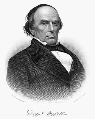 1874 Photograph - Daniel Webster (1782-1852) by Granger