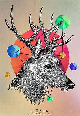 Humor Digital Art - Deer by Mark Ashkenazi