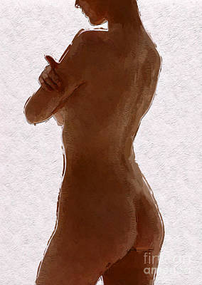 Panties Digital Art - Digital Woman by Mary Bassett