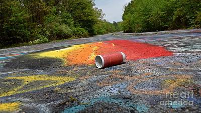 Photograph - Discarded Spray Paint Can by Ben Schumin
