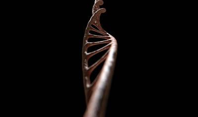 Molecule Digital Art - Dna Strand Micro by Allan Swart
