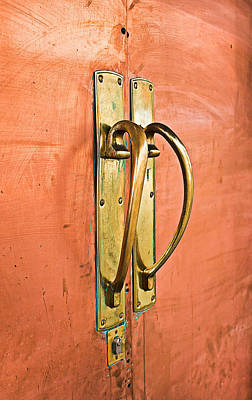 Ornate Photograph - Door Handle by Tom Gowanlock
