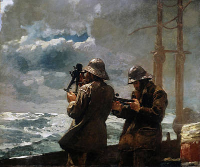 Winslow Homer Painting - Eight Bells by Winslow Homer