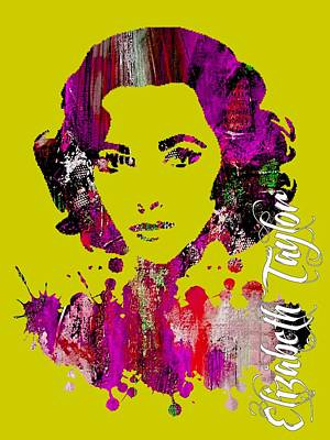 Elizabeth Mixed Media - Elizabeth Taylor Collection by Marvin Blaine