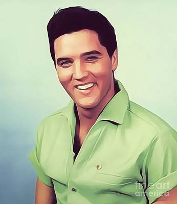 Music Royalty-Free and Rights-Managed Images - Elvis Presley, Rock and Roll Legend by Esoterica Art Agency