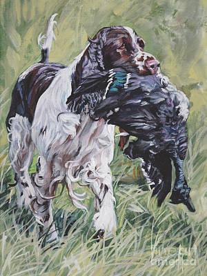 Painting - English Springer Spaniel by Lee Ann Shepard