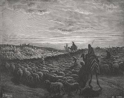 Bible Drawing - Engraving From The Dore Bible by Vintage Design Pics