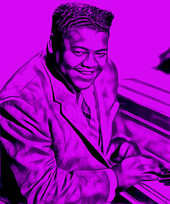 Hip Mixed Media - Fats Domino Collection by Marvin Blaine