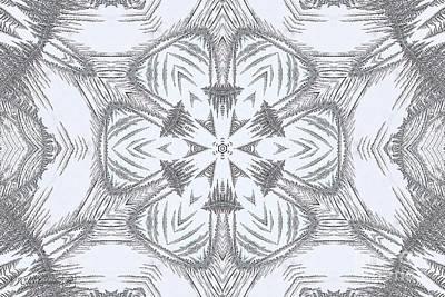 Digital Art - Fern Frost Mandala by J McCombie