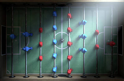 Soccer Digital Art - Foosball Players by Allan Swart