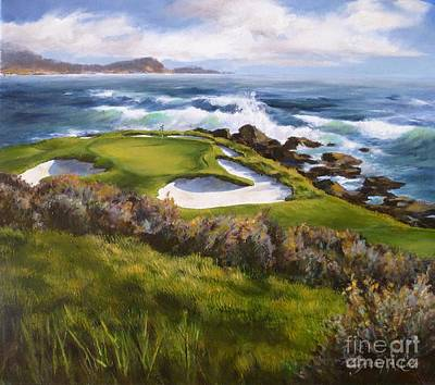 7th Hole Painting - 7 For All Seasons by Shelley Cost