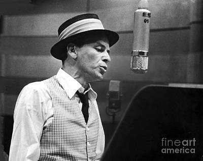 Oceans 11 Photograph - Frank Sinatra - Capitol Records Recording Studio by The Titanic Project