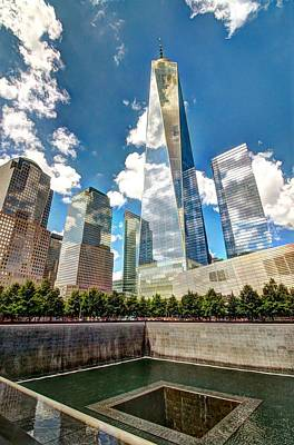 Photograph - Freedom Tower And The 9 - 11 Memorial by Allen Beatty