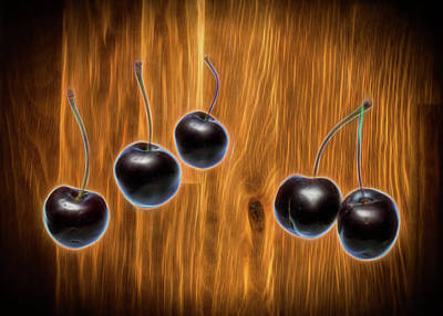 Photograph - Fresh Cherries by David French