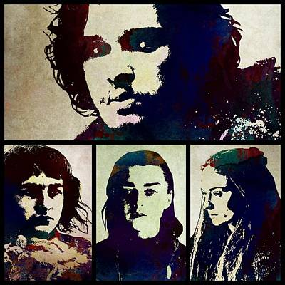 Daenerys Targaryen Digital Art - Game Of Thrones. House Stark. by Anna J Davis