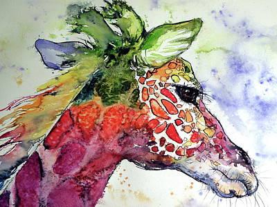 Painting - Giraffe  by Kovacs Anna Brigitta