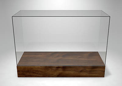 Business Digital Art - Glass Display Case by Allan Swart