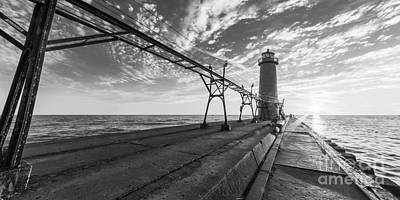 Grand Haven Photograph - Grand Haven Pier And Lighthouse by Twenty Two North Photography