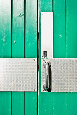 Green Door Art Print by Tom Gowanlock