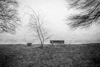 Photograph - Green Pond New Jersey Winter C408 by Rich Franco