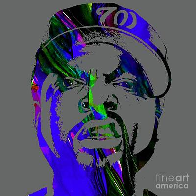 Mixed Media - Ice Cube Straight Outta Compton by Marvin Blaine