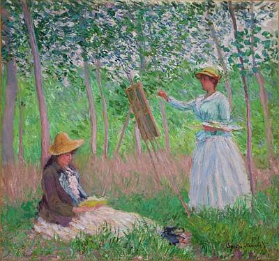 Monet Painting - In The Woods At Giverny by MotionAge Designs