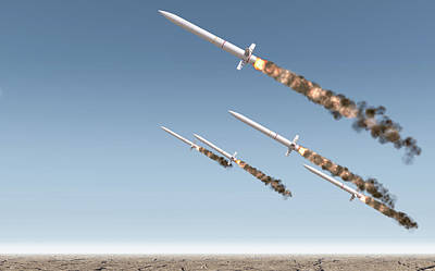 Ballistic Digital Art - Intercontinental Ballistic Missile by Allan Swart