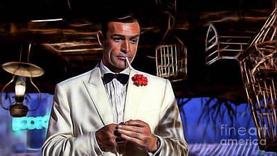James Bond Collection Art Print by Marvin Blaine