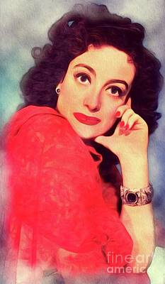 Royalty-Free and Rights-Managed Images - Joan Crawford, Vintage Actress by Esoterica Art Agency