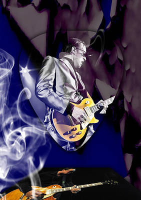Mixed Media - Joe Bonamassa Blues Guitarist Art by Marvin Blaine