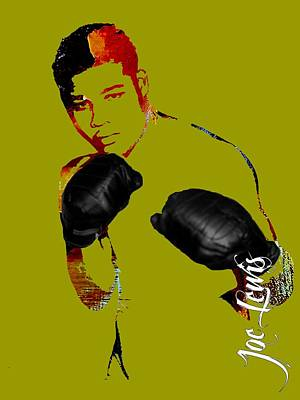 Boxing Mixed Media - Joe Louis Collection by Marvin Blaine