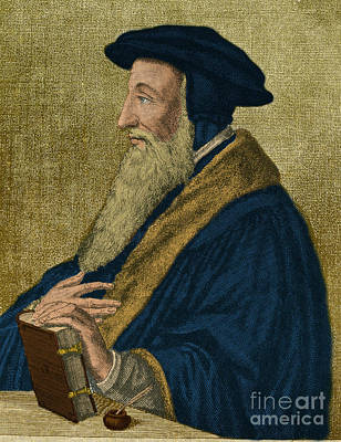 Clergyman Photograph - John Calvin, French Theologian by Photo Researchers