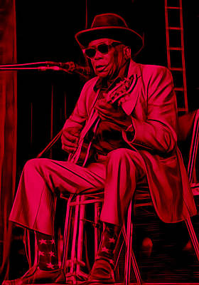 John Mixed Media - John Lee Hooker Collection by Marvin Blaine
