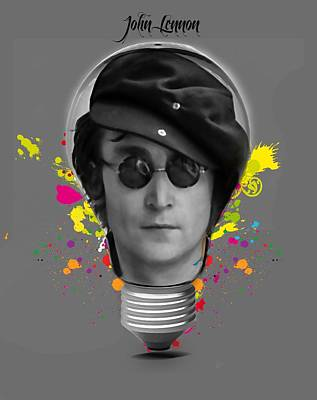 Mixed Media - John Lennon by Marvin Blaine