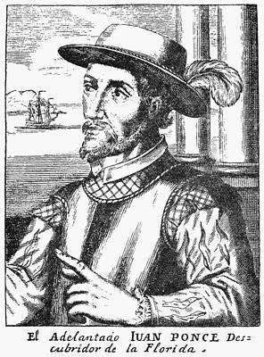 Juan Ponce De Leon Print by Granger