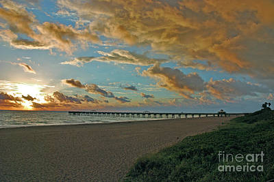 Photograph - 7- Juno Beach Pier by Joseph Keane