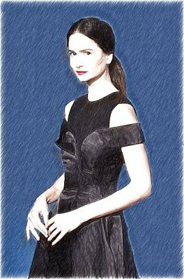 Actor Digital Art - Katherine Waterston Art by Elizabeth Simon