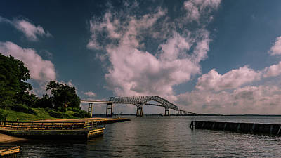 Waterview Photograph - Key Bridge by Jim Archer