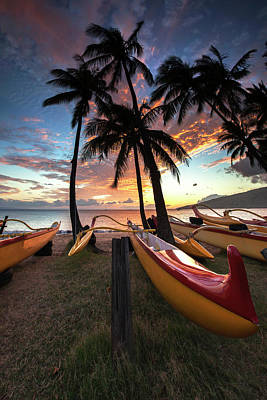 Photograph - Kihei Canoes by James Roemmling