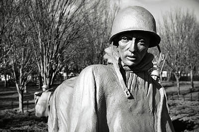 Photograph - Korean War Memorial by Brandon Bourdages