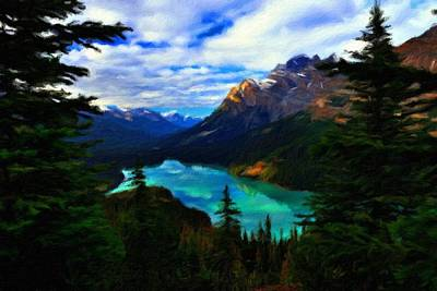 Twilight Digital Art - Landscape Art by Usa Map