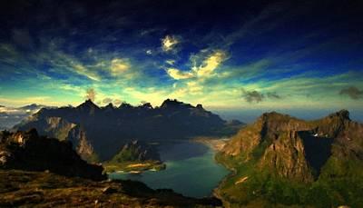 Sky Digital Art - Landscape Lighting by Landscape Art