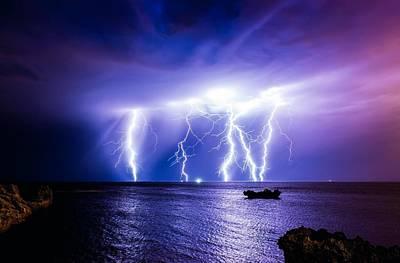Bright Digital Art - Lightning by Super Lovely
